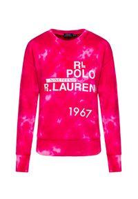 Polo Ralph Lauren - Bluza POLO RALPH LAUREN. Typ kołnierza: polo. Kolor: różowy. Materiał: bawełna. Wzór: nadruk