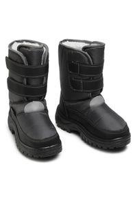 Szare buty zimowe Playshoes na spacer, z aplikacjami, z cholewką