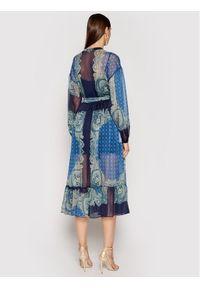 TwinSet Sukienka letnia 211TT2210 Granatowy Regular Fit. Kolor: niebieski. Sezon: lato