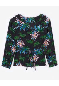 Kenzo - KENZO - Czarna koszula w lilie wodne. Okazja: na co dzień. Kolor: czarny. Materiał: wiskoza. Wzór: nadruk, aplikacja. Sezon: lato, wiosna. Styl: casual