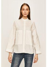 Biała koszula ANSWEAR na co dzień, długa, ze stójką, casualowa