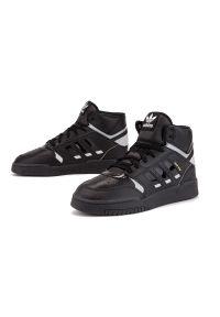 Czarne sneakersy Adidas w kolorowe wzory, z cholewką