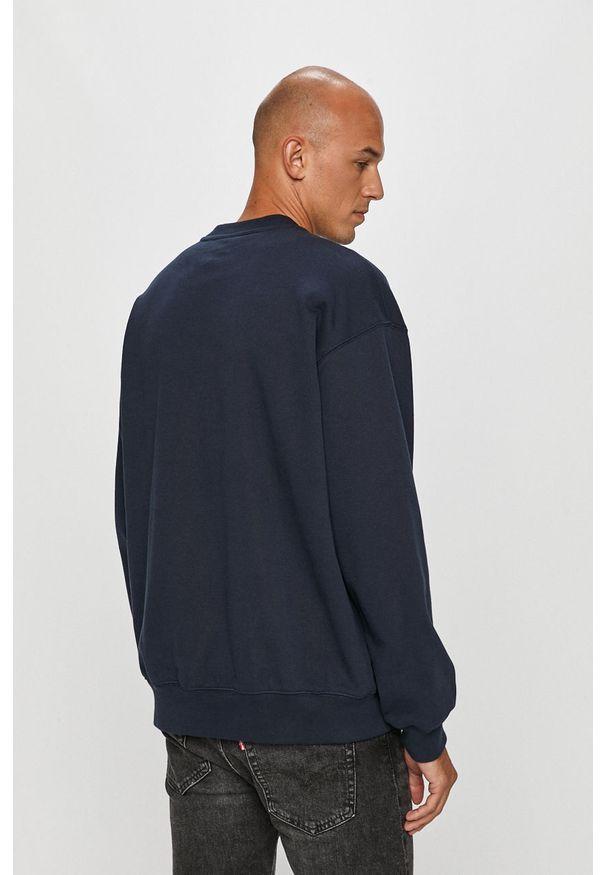 Niebieska bluza nierozpinana Dr. Denim z okrągłym kołnierzem