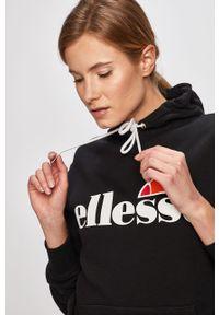 Czarna bluza Ellesse długa, z długim rękawem, casualowa