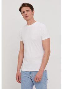 Karl Lagerfeld - T-shirt (2-pack). Okazja: na co dzień. Kolor: biały. Materiał: dzianina. Wzór: gładki. Styl: casual