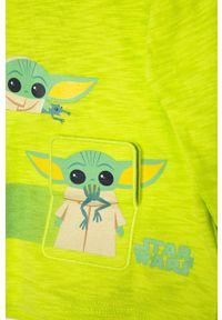 Zielona koszulka z długim rękawem GAP z nadrukiem, casualowa, na co dzień