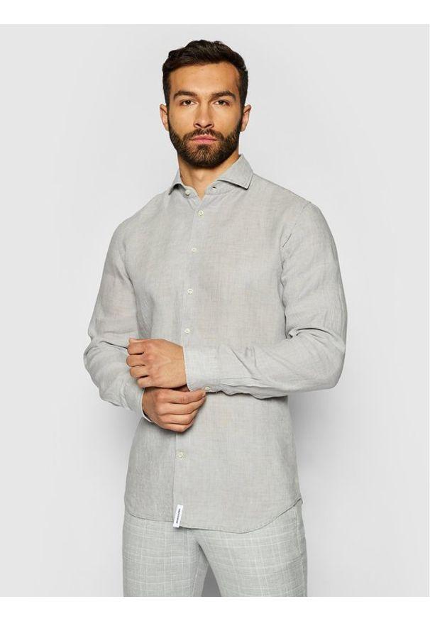 Baldessarini Koszula Henry B3 10000/000/3030 Szary Tailored Fit. Kolor: szary