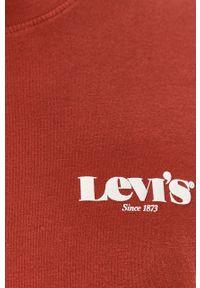 Brązowy t-shirt Levi's® z nadrukiem, na spotkanie biznesowe, biznesowy