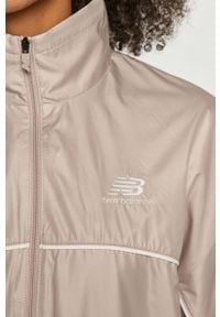 Fioletowa kurtka New Balance gładkie