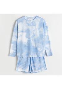 Reserved - Dwucześciowa piżama tie-dye - Niebieski. Kolor: niebieski