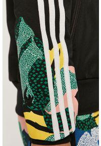 Czarna bluza rozpinana adidas Originals bez kaptura, na co dzień, raglanowy rękaw