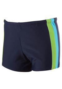 Kąpielówki męskie Rontil 28M. Kolor: niebieski, wielokolorowy, szary. Materiał: poliamid, materiał, elastan