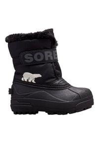 sorel - Sorel Buty Dziecięce Zimowe Commander Black. Sezon: zima