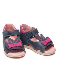 RenBut - Sandały RENBUT - 11-1557 Jeans 1. Kolor: niebieski. Materiał: skóra. Wzór: aplikacja #3