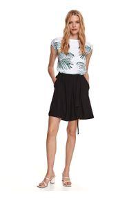 TOP SECRET - Dzianinowe spódnico-spodnie. Okazja: na co dzień. Kolor: czarny. Materiał: dzianina. Sezon: lato. Styl: casual
