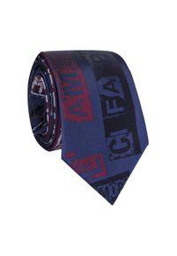Czerwony krawat Giacomo Conti z nadrukiem