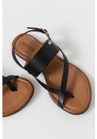 MEXX - Mexx - Sandały skórzane. Zapięcie: klamry. Kolor: czarny. Materiał: skóra. Wzór: gładki