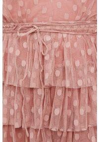 Różowa sukienka Nissa na co dzień, casualowa, mini