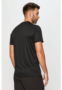 Czarny t-shirt Ellesse na co dzień, z nadrukiem
