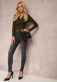 Renee - Ciemnoszare Jeansy Skinny Yeseanor. Kolor: szary. Długość: długie. Styl: elegancki