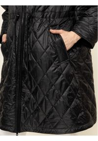 Czarny płaszcz zimowy Emporio Armani