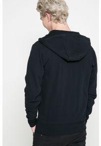 Czarna bluza rozpinana Ellesse z kapturem, z nadrukiem