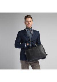 Czarna torba na laptopa Wittchen z aplikacjami, elegancka