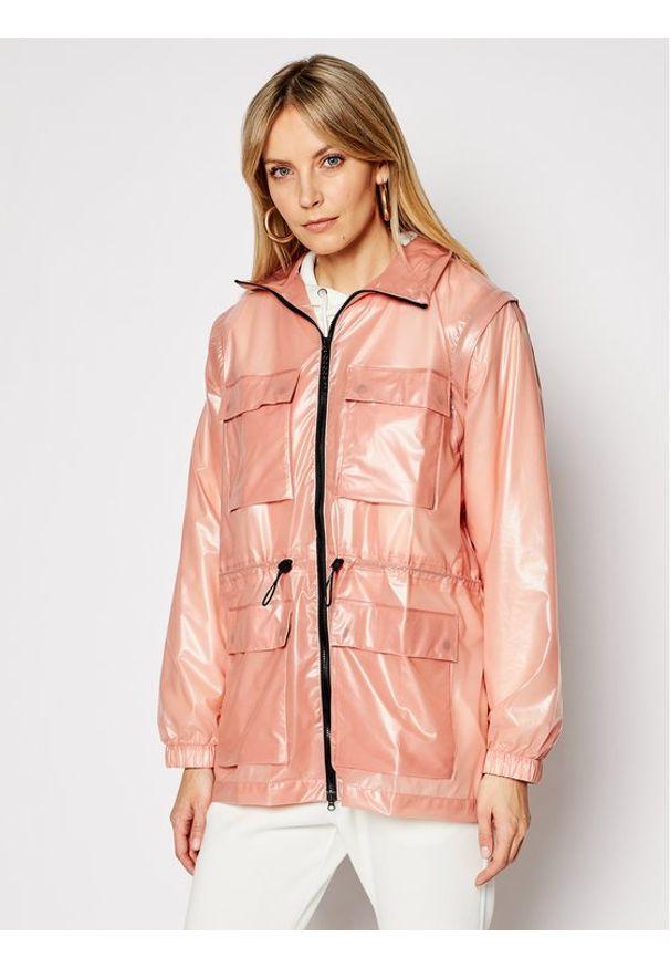 Rains Kurtka przeciwdeszczowa Unisex 1846 Różowy Regular Fit. Kolor: różowy