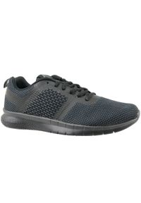 Czarne buty do biegania Reebok w kolorowe wzory, z cholewką