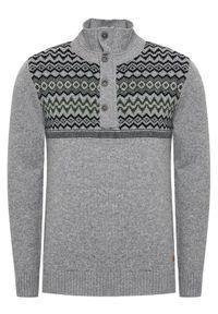 CMP Sweter 7H77042 Szary Regular Fit. Kolor: szary