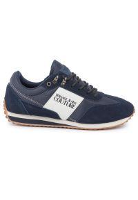 Niebieskie sneakersy Versace Jeans Couture