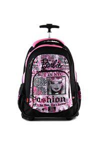 Barbie Plecak szkolny na kółkach , czarno-różowy. Kolor: czarny, różowy, wielokolorowy