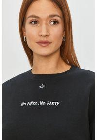 Czarna bluza Pinko klasyczna, z długim rękawem