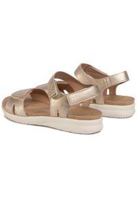 Złote sandały Clara Barson casualowe, na co dzień