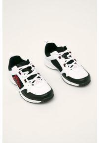 Czarne sneakersy Kappa z cholewką, z okrągłym noskiem