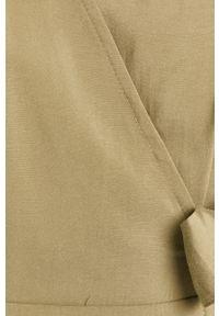 Zielona sukienka ANSWEAR na co dzień, z krótkim rękawem, prosta