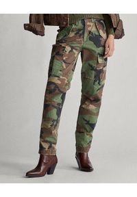 Ralph Lauren - RALPH LAUREN - Damskie spodnie moro. Okazja: na co dzień. Kolor: zielony. Wzór: moro. Styl: klasyczny, casual, militarny