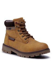 Brązowe buty zimowe Xti z cholewką