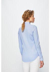 Polo Ralph Lauren - Koszula. Typ kołnierza: polo. Kolor: niebieski. Materiał: tkanina. Wzór: gładki