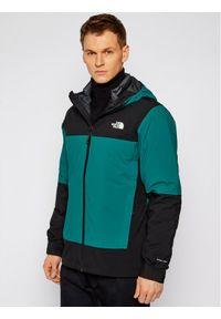 Zielona kurtka przeciwdeszczowa The North Face