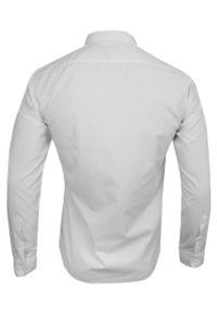 Biała elegancka koszula Grzegorz Moda Męska do pracy, długa