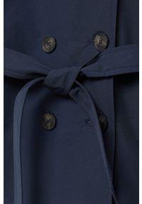 Niebieski płaszcz Mango Kids casualowy, z kapturem #4