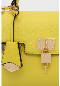 Aldo - Torebka. Kolor: żółty. Rodzaj torebki: na ramię