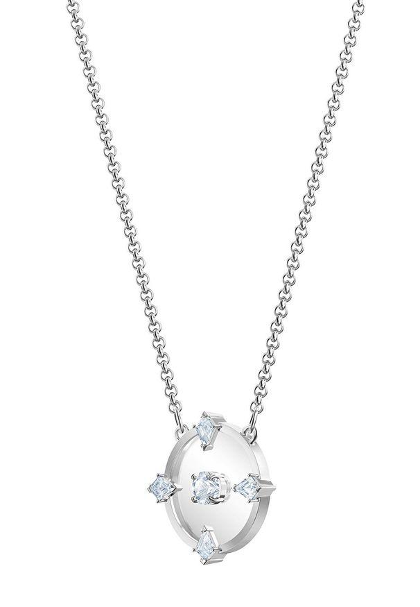 Srebrny naszyjnik Swarovski z kryształem, ze stali szlachetnej