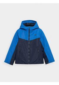 4f - Kurtka narciarska membrana 5 000 chłopięca. Kolor: niebieski. Materiał: materiał, poliester. Sezon: zima. Sport: narciarstwo