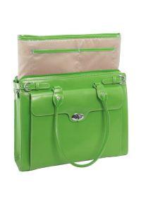 Torba na laptopa MCKLEIN Winnetka 15.6 cali Zielony. Kolor: zielony. Materiał: skóra. Styl: elegancki