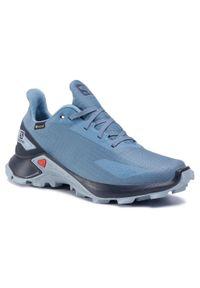 Niebieskie buty do biegania salomon na co dzień, Gore-Tex