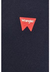 Niebieska bluza rozpinana Wrangler na co dzień, z kapturem, z nadrukiem