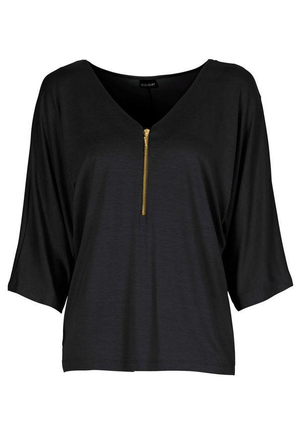 "Shirt ""nietoperz"" bonprix czarny. Kolor: czarny"