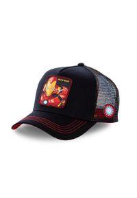 Czarna czapka z daszkiem CapsLab z aplikacjami